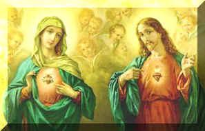 LOS CORAZONES DE JESUS Y MARÍA